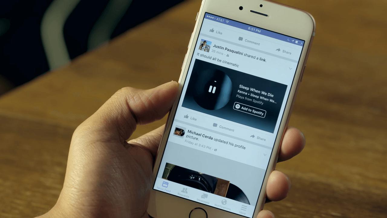 Facebook fotoğraflara müzik ekleme